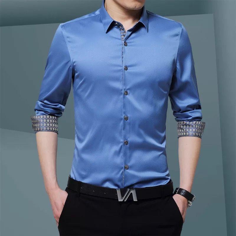 东莞灰条纹衬衫
