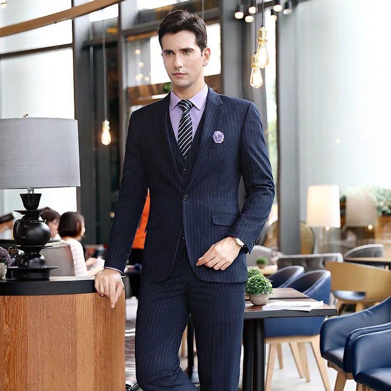 咖啡色男士职业装怎么穿最好看?