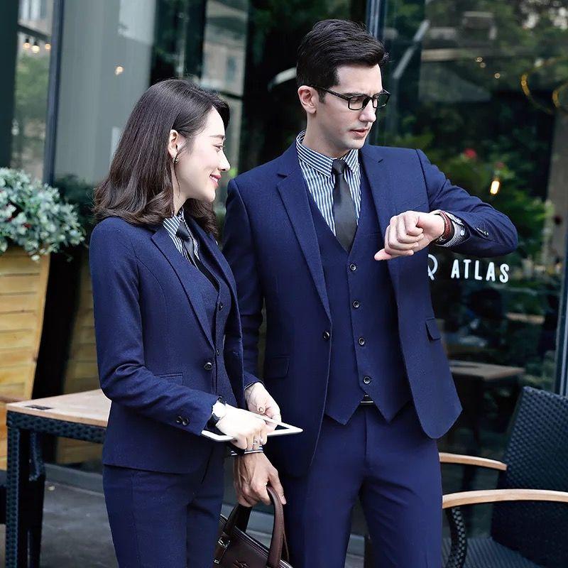 蓝色西服的相关搭配