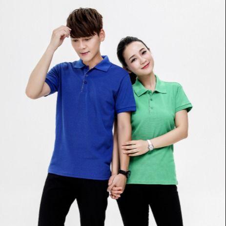 订制企业短袖翻领广告衫高棉T恤工作服厂家