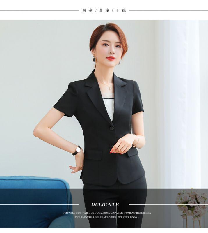 夏季职业装 女装套装短袖套裙修身西装女士酒店经理东莞工作服