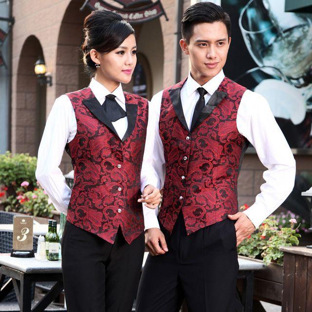 酒吧KTV制服 酒店服务员马甲 西餐厅马夹套装
