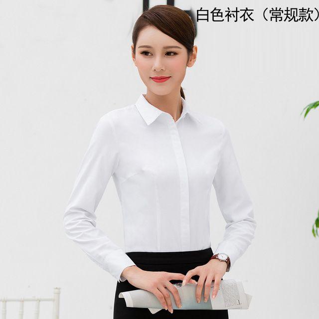 职业装女装 白衬衫女 长袖OL女正装 秋冬大码工装东莞工作服加绒保暖衬衣