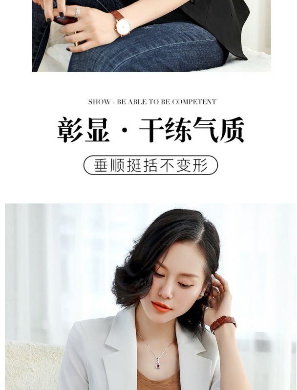 chic西装外套女短款2019春季新款韩版职业休闲修身网红小西服