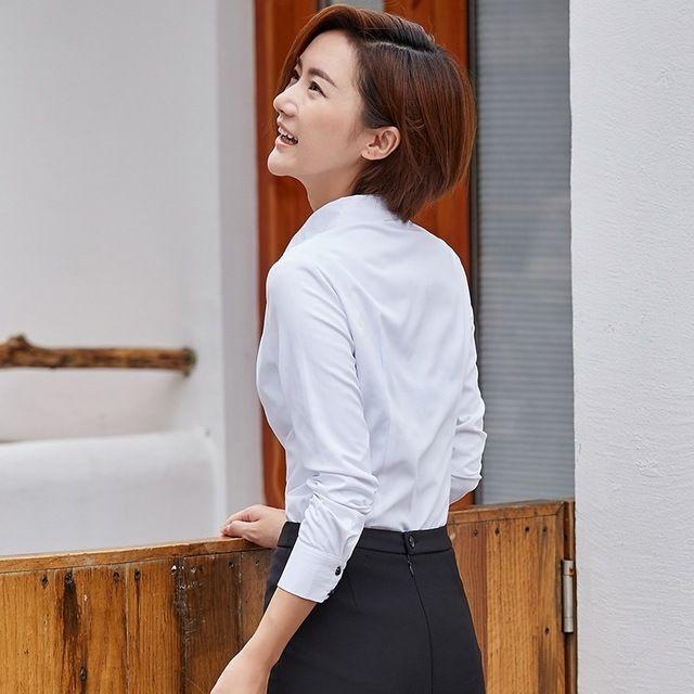 夏季职业装 短袖衬衫 修身OL气质衬衣短袖棉韩版衬衫东莞工作服
