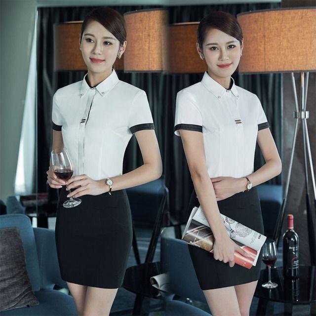 正品夏季 新款短袖职业装 通勤OL百搭办公东莞工作服 黑色大码女装衬衫