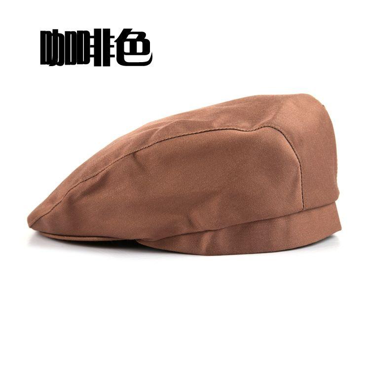 厨房透气 网格厨师帽 男餐厅薄款帽子贝雷帽服务员工作鸭舌帽女夏季