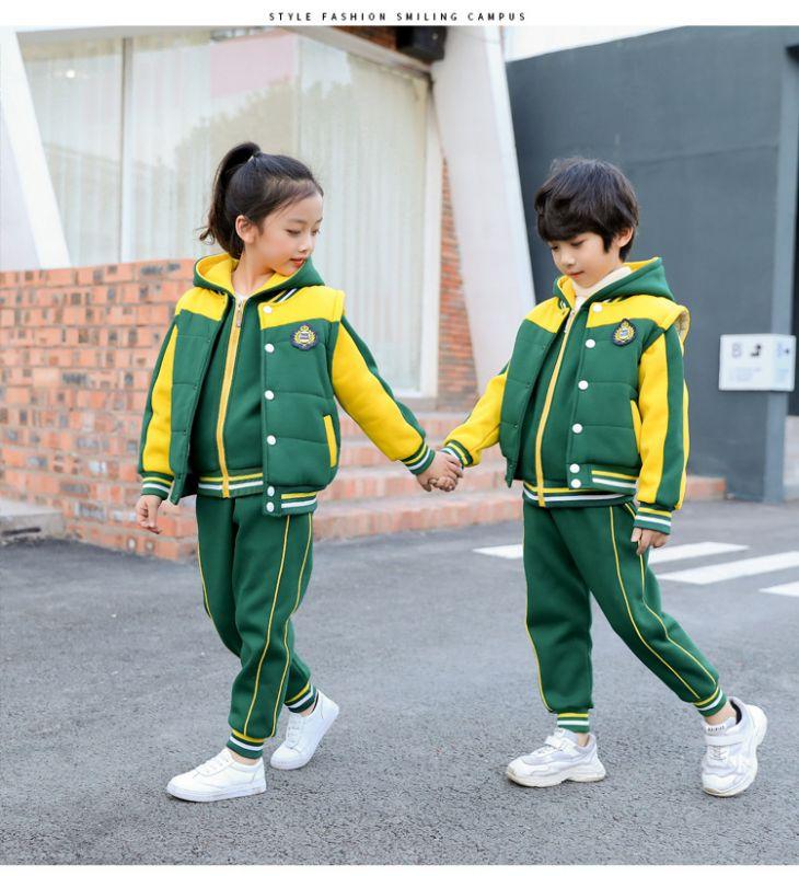 2018秋冬季幼儿园园服套装 加厚三件套卫衣小学生校服 老师儿童班服