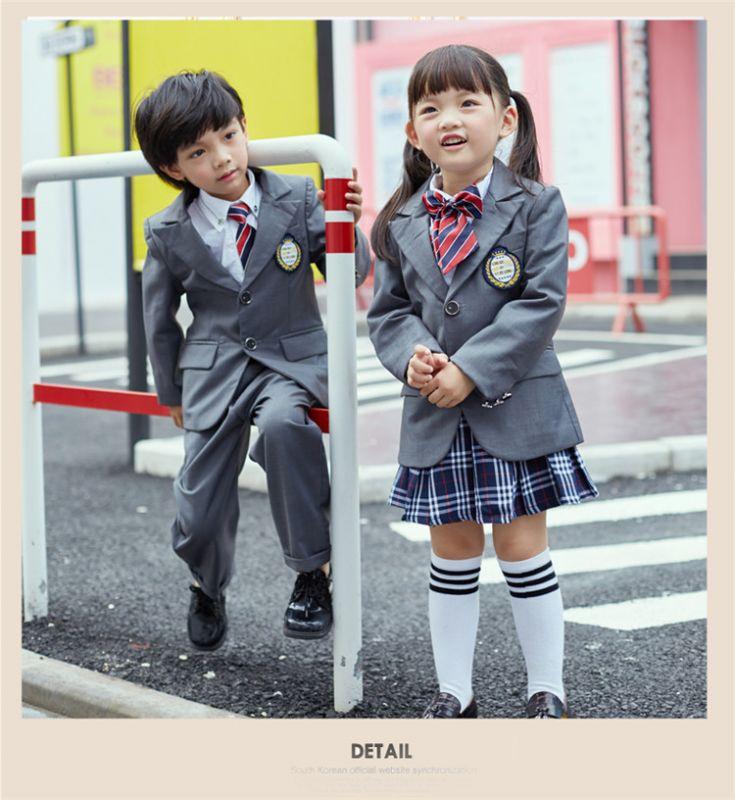 秋季幼儿园园服 春秋装套装 小学生校服英伦风四件套 中学生纯棉班服