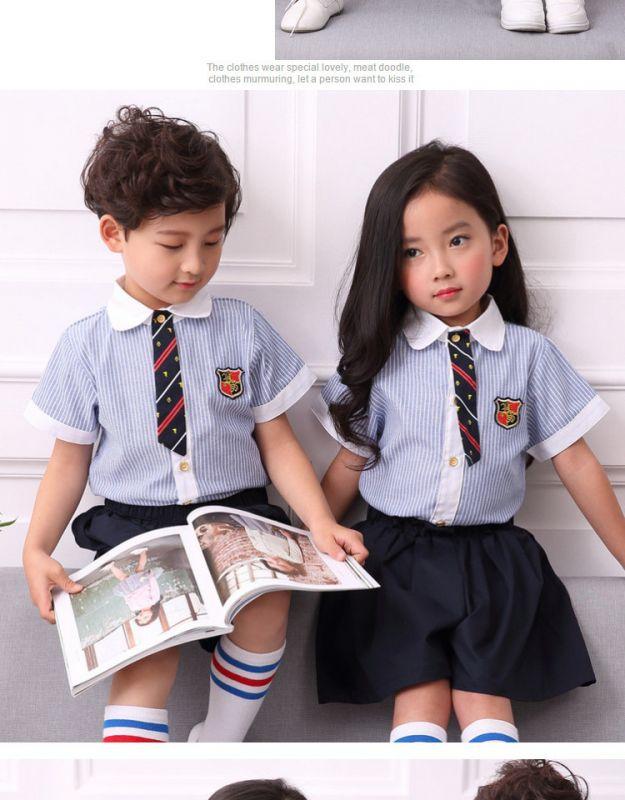夏季幼儿园园服夏装 新款小学生校服 纯棉英伦风套装 儿童班服毕业服