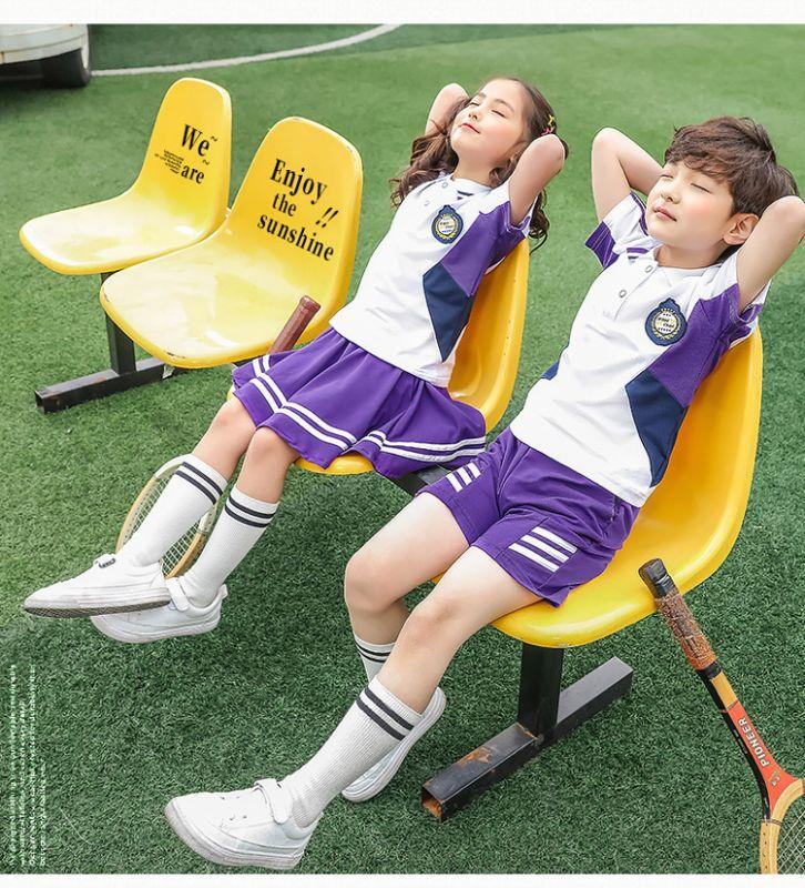 夏季新款幼儿园园服夏装 小学生校服纯棉短袖运动套装 儿童班服校服